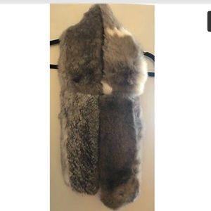 Handmade real fur scarf